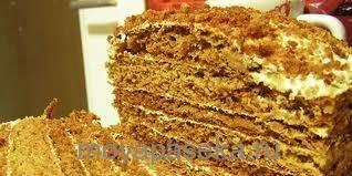 Быстрый пирог. Медовик