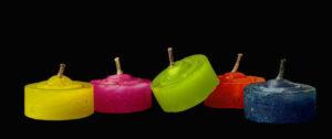 Цветные восковые свечи