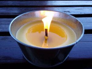 Жировая свеча с фитилём